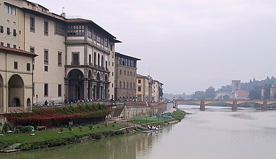Uffizi Museum on the River Arno